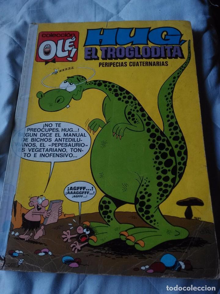 HUG EL TROGLODITA - PERIPECIAS CUATERNARIAS. COLECCIÓN OLÉ BRUGUERA. NÚMERO 61. AÑO 1972. (Tebeos y Comics - Bruguera - Ole)