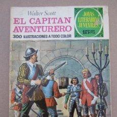 Tebeos: JOYAS LITERARIAS JUVENILES , N. 74 , EL CAPITAN AVENTURERO , PRIMERA EDICION 1973 , BRUGUERA. Lote 78015605