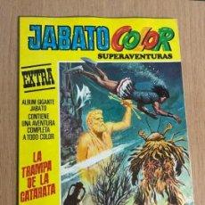 Tebeos: JABATO COLOR EXTRA ALBUM AMARILLO 1ª EPOCA Nº 51. LA TRAMPA DE LA CATARATA. BRUGUERA 1974. Lote 78429057