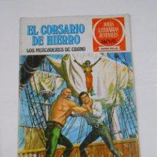 Tebeos: EL CORSARIO DE HIERRO Nº 3. LOS MERCADERES DE EBANO. JOYAS LITERARIAS JUVENILES. TDKC21. Lote 79158893
