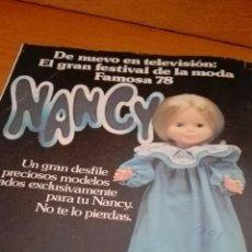 Tebeos: C62 REVISTA LILY 889 POSTER EMILIO GUTIERREZ CABA PUBLICIDAD NANCY FAMOSA BABY DOLL. Lote 79926181