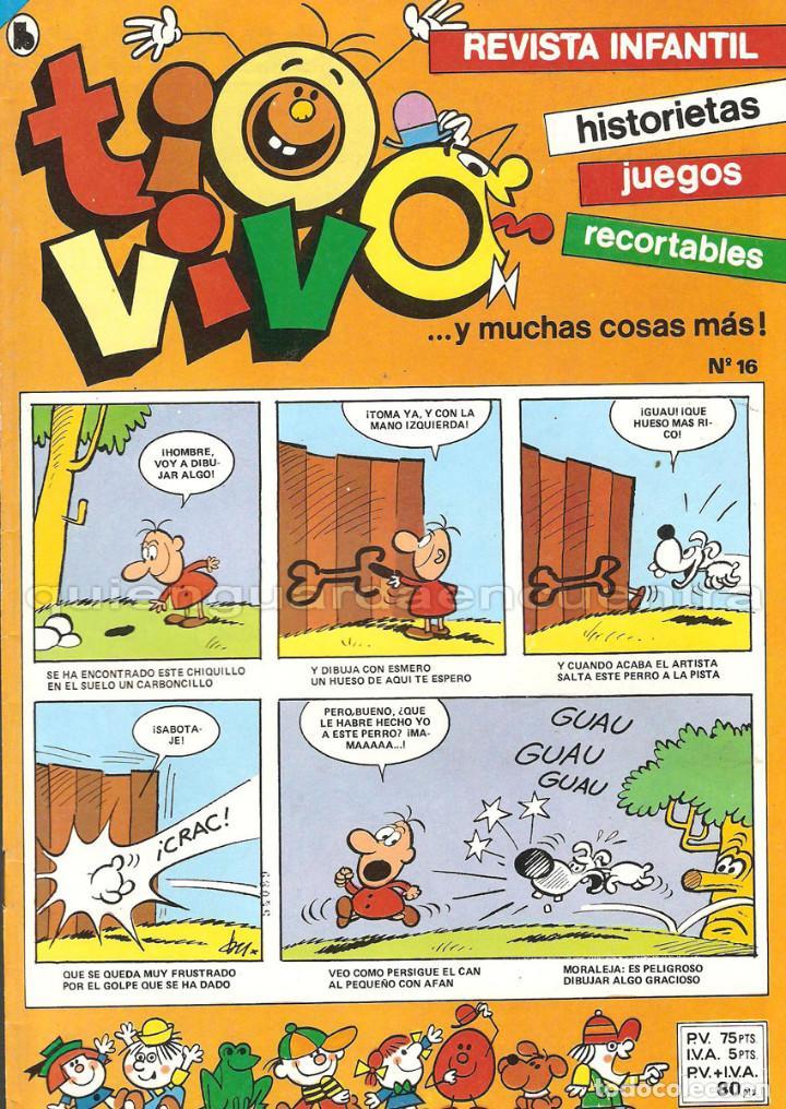 TIO VIVO 17 COMICS-HISTORIETAS-RECORTABLES 2-6-10-11-12-13-14-15-16-17-18-19-20-21-23-23-24-1986 (Tebeos y Comics - Bruguera - Otros)