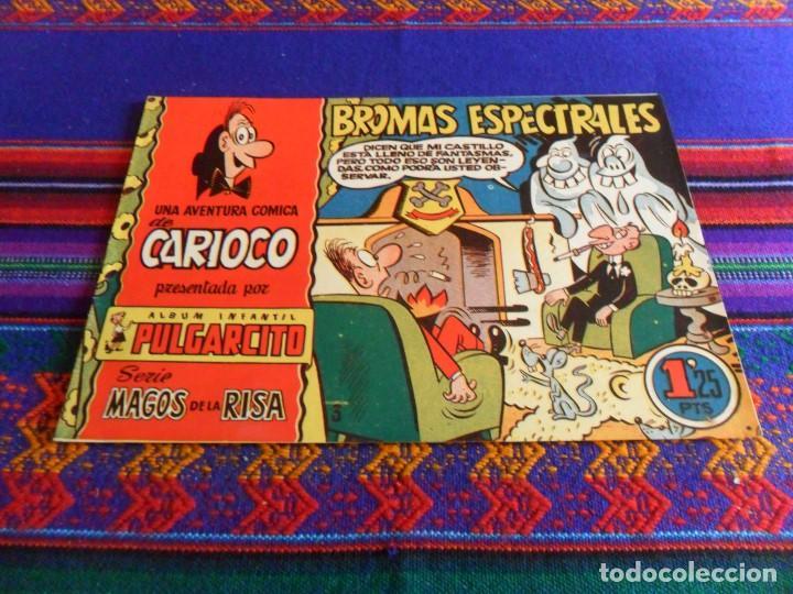 PULGARCITO MAGOS DE LA RISA 3 CARIOCO BROMAS ESPECTRALES. 1,25 PTS. COMO NUEVO Y MUY DIFÍCIL. (Tebeos y Comics - Bruguera - Pulgarcito)