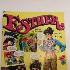 Tebeos: ESTHER NUM 23 - CON POSTER BEE GES Y PETER FRAMPTON - BRUGUERA 1982. Lote 82280504