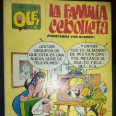 Tebeos: LA FAMILIA CEBOLLETA.BY VÁZQUEZ.OLÉ Nº 4 EN LOMO 1ª EDICIÓN 1977.. Lote 82519552