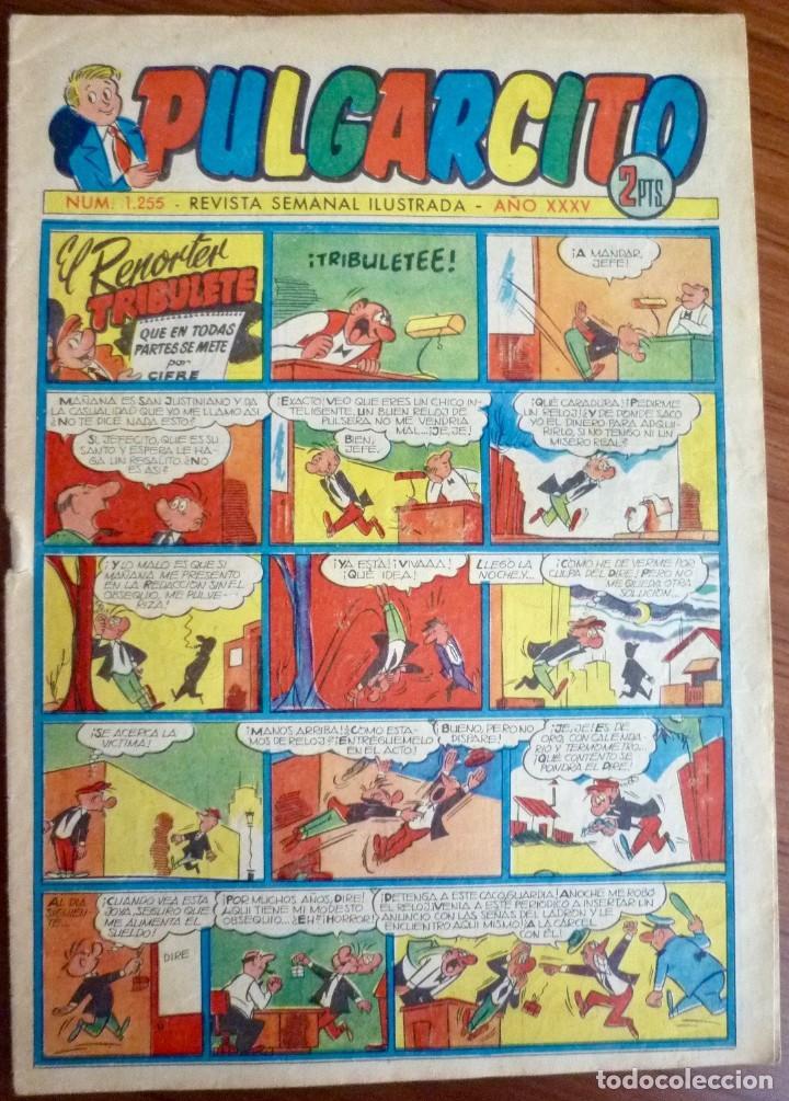 PULGARCITO 1255. BRUGUERA 1952. ORIGINAL (CON EL INSPECTOR DAN) (Tebeos y Comics - Bruguera - Pulgarcito)