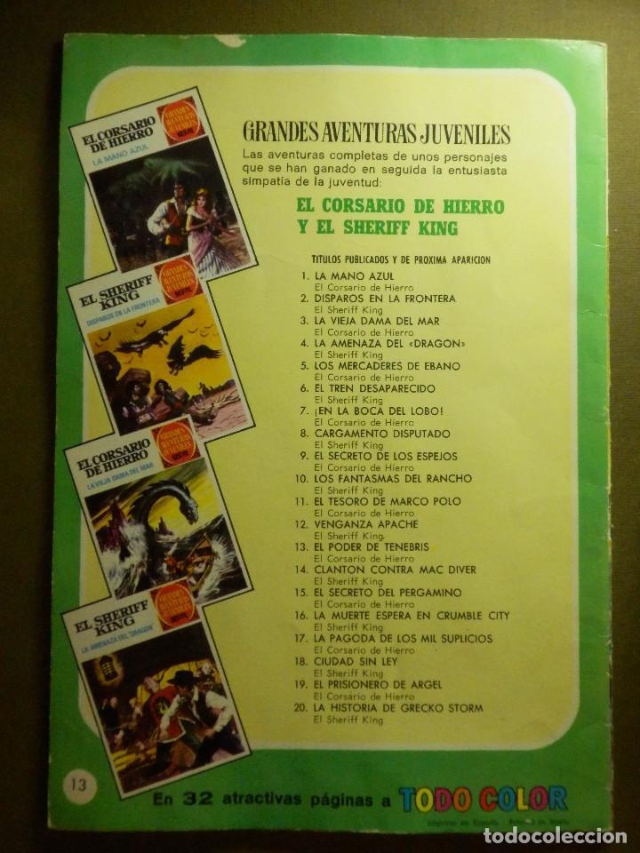 Tebeos: COMIC - El corsario de Hierro - El poder de Tenebris - Nº 13 - BRUGUERA - 1972 - Foto 2 - 83536008