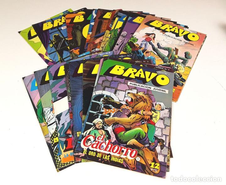 BRAVO. PUBLICACIÓN JUVENIL. 27 EJEMPLARES(VER DESCRIP). EDIT. BRUGERA. 1976 (Tebeos y Comics - Bruguera - Bravo)