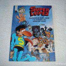 Tebeos: SUPER LOPEZ. COLECCION OLE N 11: CACHABOLIK BLUE ROCK Y EL FANTASMA DEL MUSEO DEL PRADO - 2º ED 1997. Lote 85278296
