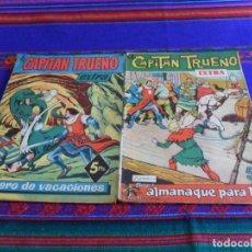 Tebeos: EL CAPITÁN TRUENO EXTRA VACACIONES 1960 Y ALMANAQUE 1962. BRUGUERA 5 PTS.. Lote 86020196