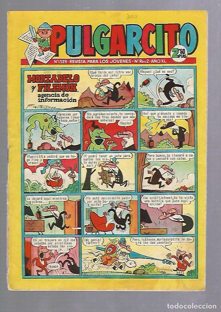 TEBEO PULGARCITO. Nº 1528. AÑO XL. REVISTA PARA LOS JOVENES. 2'50 PTS. BUEN ESTADO (Tebeos y Comics - Bruguera - Pulgarcito)