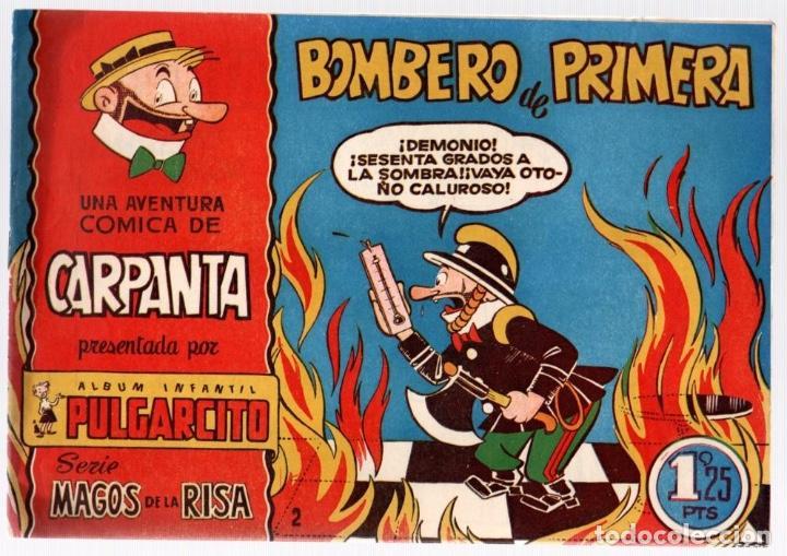 UNA AVENTURA COMICA DE CARPANTA. ALBUM INFANTIL PULGARCITO. BOMBERO DE PRIMERA. ORIGINAL (Tebeos y Comics - Bruguera - Pulgarcito)