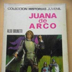 Tebeos: COLECCIÓN HISTORIAS JUVENIL Nº 1, JUANA DE ARCO, ED. BRUGUERA 1968, ERCOM. Lote 87605508