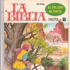 Giornalini: LA BIBLIA. Nº 10. EL PECADO DE DAVID. BRUGUERA 1978. (ST/A10). Lote 88569816