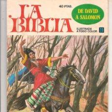 Giornalini: LA BIBLIA. Nº 11. DE DAVID A SALOMÓN. BRUGUERA 1978. (ST/A10). Lote 88570040