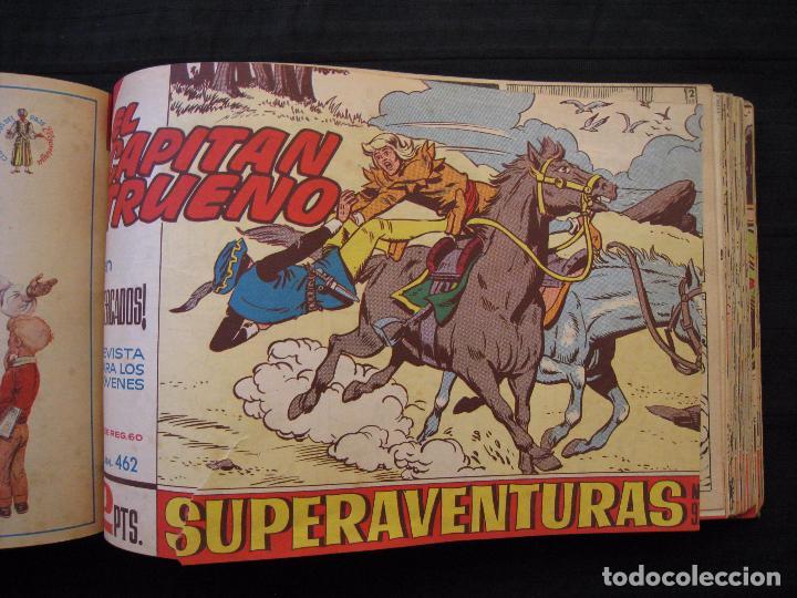Tebeos: EL CAPITAN TRUENO - TOMO ENCUADERNADO - 65 EJEMPLARES DEL Nº 409 AL 483 - BRUGUERA. - Foto 12 - 89368892