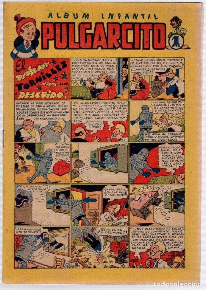 ALBUM INFANTIL PULGARCITO. Nº 16. EL PROFESOR TORNILLEZ TIENE UN DESCUIDO. ORIGINAL. AÑOS 40 (Tebeos y Comics - Bruguera - Pulgarcito)