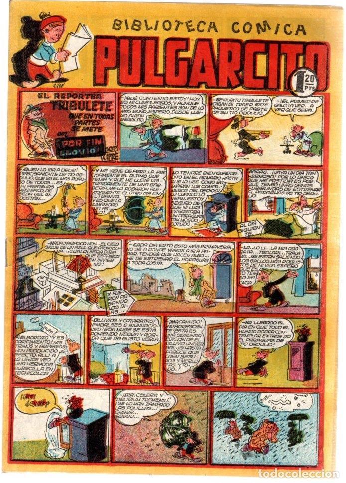 ALBUM INFANTIL PULGARCITO. Nº 93. EL REPORTER TRIBULETE. POR FIN LLOVIO. ORIGINAL. AÑOS 40 (Tebeos y Comics - Bruguera - Pulgarcito)