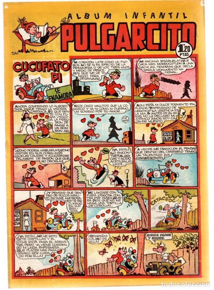 ALBUM INFANTIL PULGARCITO. Nº 100. CUCUFATO PI SE ENAMORA. ORIGINAL. AÑOS 40 (Tebeos y Comics - Bruguera - Pulgarcito)
