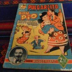 Tebeos: PULGARCITO LAS MEJORES HISTORIETAS DE DON PÍO SERIE MAGOS DEL LÁPIZ PEÑARROYA BRUGUERA 2,50 PTS RARO. Lote 90740155