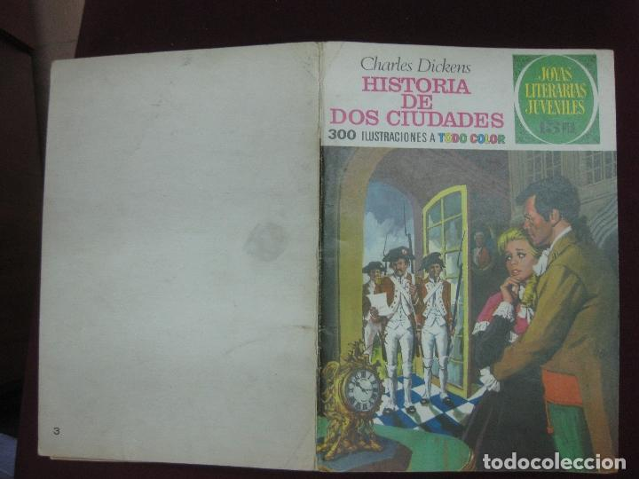 HISTORIA DE DOS CIUDADES. DICKENS. JOYAS LITERARIAS JUVENILES. BRUGUERA 1970. CONTRAPORTADA BLANCA. (Tebeos y Comics - Bruguera - Joyas Literarias)