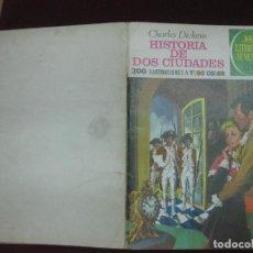Tebeos: HISTORIA DE DOS CIUDADES. DICKENS. JOYAS LITERARIAS JUVENILES. BRUGUERA 1970. CONTRAPORTADA BLANCA.. Lote 91135370
