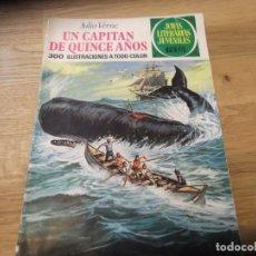 Tebeos: UN CAPITÁN DE QUINCE AÑOS. JULIO VERNE. JOYAS LITERARIAS. Nº 101. BRUGUERA. 1ª EDICIÓN. 1974. 15 PTS. Lote 91437090