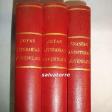 Tebeos: EDITORIAL BRUGUERA.JOYAS LITERARIAS JUVENILES.TRES TOMOS.1971.. Lote 91588805