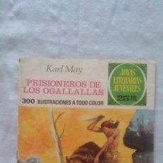 Tebeos: JOYAS LITERARIAS - Nº163 - 1ª EDICION 1976 - PRISIONEROS DE LOS OGALLALLAS. Lote 92106440