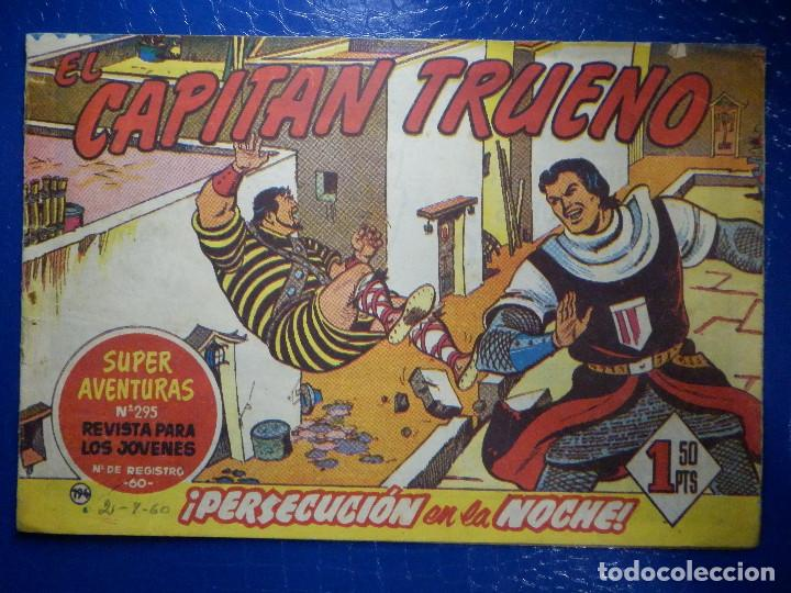 TEBEO - COMIC - EL CAPITAN TRUENO - PERSECUCIÓN EN LA NOCHE - BRUGUERA - Nº 194 - ORIGINAL (Tebeos y Comics - Bruguera - Capitán Trueno)
