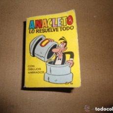 Tebeos: ANTIGUO Y PEQUEÑO TEBEO COMICO ANACLETO LO RESUELVE TODO. Lote 92809135