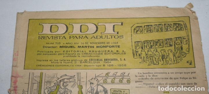 Tebeos: DDT Nº 705, REVISTA JUVENIL, NOVIEMBRE 1964, COMIC TEBEO ANTIGUO - Foto 2 - 93625025
