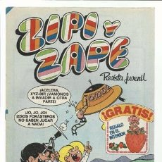 Tebeos: ZIPI Y ZAPE 514, 1982, BRUGUERA IMPECABLE. CONTIENE FICHAS ESTRELLAS DEL MUNDIAL Y LA LISTA. Lote 94287314