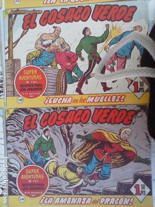 Tebeos: EL COSACO VERDE COMPLETA ORIGINAL Y SUELTA - 1 AL 144 , MAGNÍFICO ESTADO, VER TODAS LAS PORTADAS - Foto 12 - 94629439