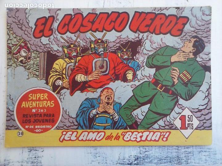 Tebeos: EL COSACO VERDE COMPLETA ORIGINAL Y SUELTA - 1 AL 144 , MAGNÍFICO ESTADO, VER TODAS LAS PORTADAS - Foto 144 - 94629439
