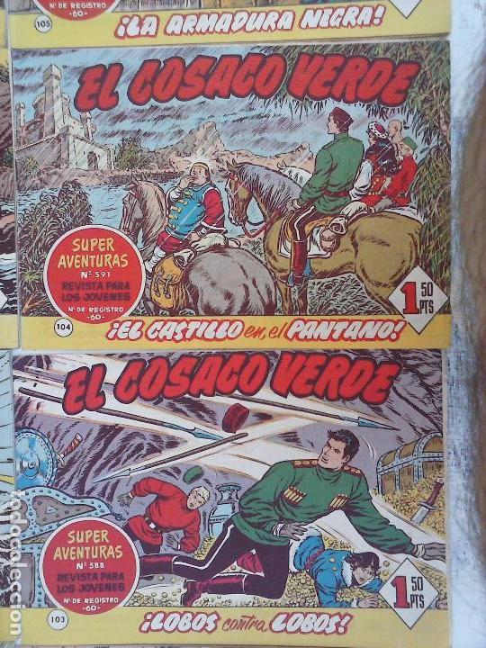 Tebeos: EL COSACO VERDE COMPLETA ORIGINAL Y SUELTA - 1 AL 144 , MAGNÍFICO ESTADO, VER TODAS LAS PORTADAS - Foto 188 - 94629439