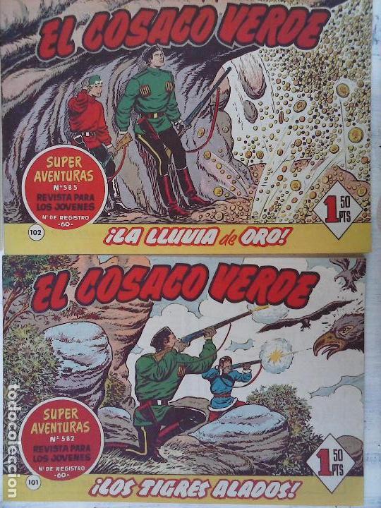 Tebeos: EL COSACO VERDE COMPLETA ORIGINAL Y SUELTA - 1 AL 144 , MAGNÍFICO ESTADO, VER TODAS LAS PORTADAS - Foto 223 - 94629439