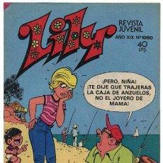 Tebeos: LILY - Nº 1060 - ED. BRUGUERA - 1982 (CON PÓSTER DE PECOS). Lote 94863443