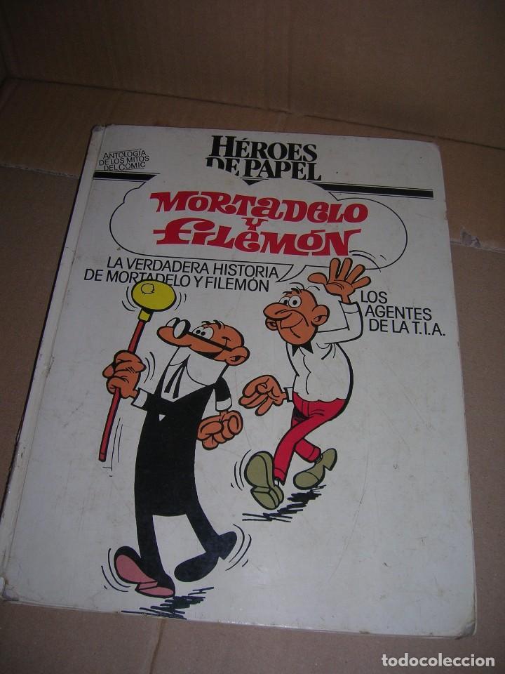 ANTOLOGÍA DE LOS MITOS DEL CÓMIC. HÉROES DE PAPEL. MORTADELO Y FILEMÓN. BRUGUERA-CÍRCULO DE LECTORES (Tebeos y Comics - Bruguera - Mortadelo)