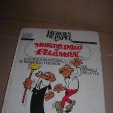 Tebeos: ANTOLOGÍA DE LOS MITOS DEL CÓMIC. HÉROES DE PAPEL. MORTADELO Y FILEMÓN. BRUGUERA-CÍRCULO DE LECTORES. Lote 95009595