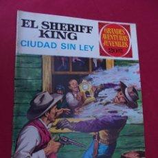 Tebeos: EL SHERIFF KING. Nº 18. CIUDAD SIN LEY. GRANDES AVENTURAS JUVENILES. BRUGUERA. 2ª EDI. Lote 95019795