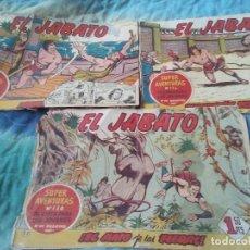 Tebeos: LOTE 3 EJEMPLARES DE EL JABATO ORIGINALES AÑOS 50.. Lote 95794427