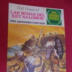 Tebeos: JOYAS LITERARIAS JUVENILES. Nº 156. LAS MINAS DEL REY SALOMON. BRUGUERA. 1976. 1ª EDICIÓN.. Lote 96114615