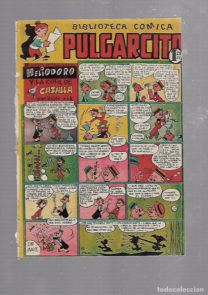 BIBLIOTECA COMICA PULGARCITO. Nº 80. HELIODORO Y LA COPA DE CAZALLA (Tebeos y Comics - Bruguera - Pulgarcito)
