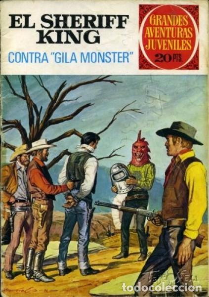 EL SHERIFF KING-GRANDES AVENTURAS JUVENILES- Nº 24 -CONTRA´GILA MONSTER`-2ª ED-1975-DIFÍCIL-LEA-3808 (Tebeos y Comics - Bruguera - Sheriff King)