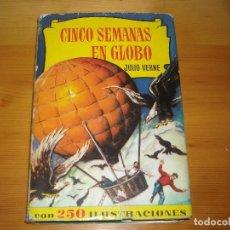 Tebeos: CINCO SEMANAS EN GLOBO - BRUGUERA - 3 EDICION 1962 -. Lote 96967695