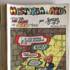 Tebeos: LOTE 24 CÓMICS FORGES. HISTORIA DE AQUÍ. ED. BRUGUERA, 1ª EDICIÓN, 1980. Lote 97203587