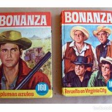 Tebeos: BONANZA 1964 DOS NOVELAS ILUSTRADAS. LIBROS BRUGUERA. EXITO TELEVISION DE LOS 60. OESTE. Lote 97646107