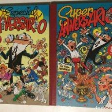 Tebeos: 2 SUPER HUMOR MORTADELO. ANIVERSARIO Y SUPER ANIVERSARIO EDICIONES B IBAÑEZ . Lote 97823290