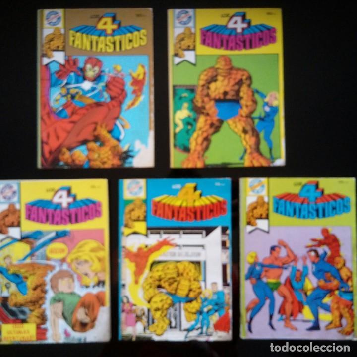 LOTE 5 COMICS LOS CUATRO FANTASTICOS. POCKET DE ASES. BRUGUERA COMPLETA (Tebeos y Comics - Bruguera - Otros)